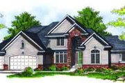 Traditional Style House Plan - 3 Beds 3.5 Baths 2911 Sq/Ft Plan #70-694 Exterior - Front Elevation