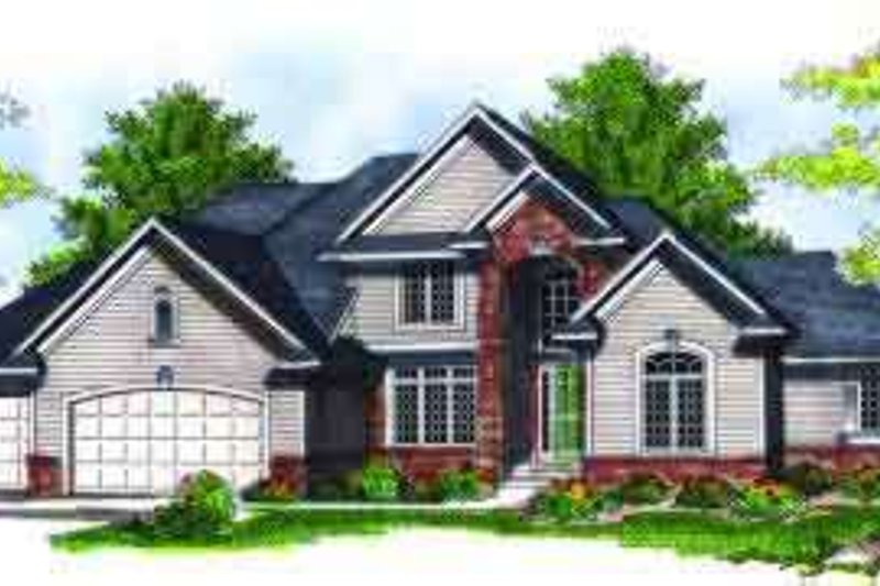Traditional Exterior - Front Elevation Plan #70-694 - Houseplans.com