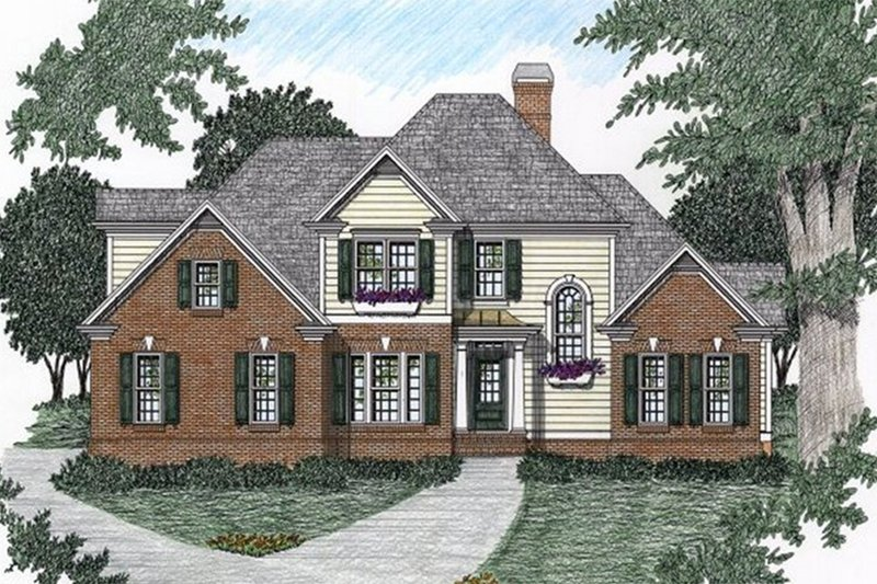 Architectural House Design - Traditional Exterior - Front Elevation Plan #129-106