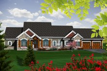 Dream House Plan - Ranch Exterior - Front Elevation Plan #70-1140