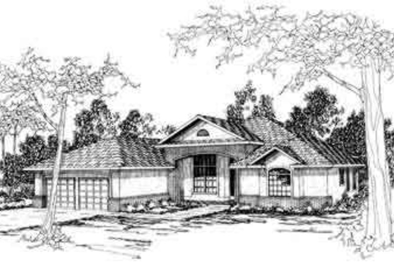 Mediterranean Exterior - Front Elevation Plan #124-199