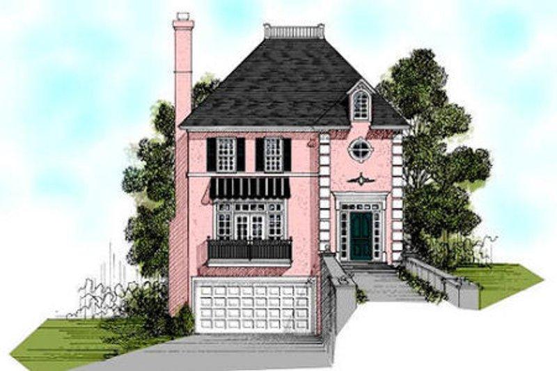 Home Plan Design - European Exterior - Front Elevation Plan #56-155