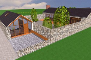 Ranch Exterior - Front Elevation Plan #520-9