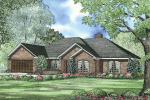 Southern Exterior - Front Elevation Plan #17-2502
