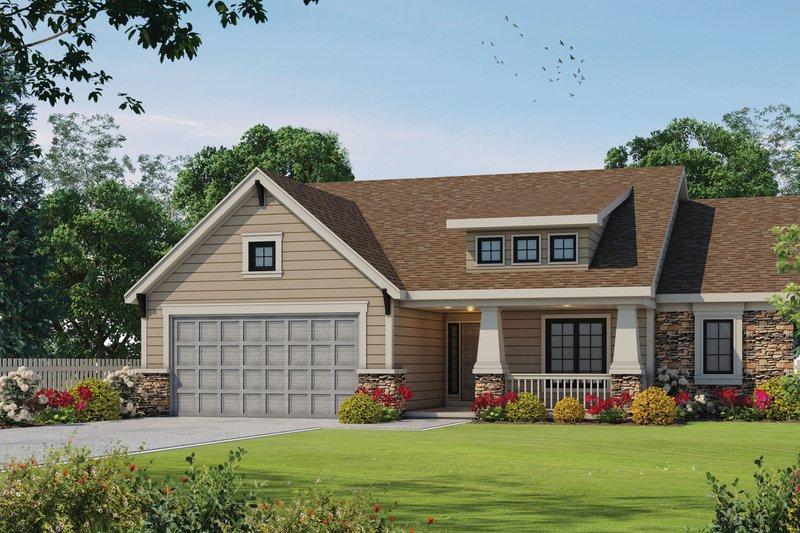 Home Plan - Bungalow Exterior - Front Elevation Plan #20-1606