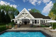 Craftsman Style House Plan - 4 Beds 3 Baths 2341 Sq/Ft Plan #51-573 Exterior - Rear Elevation