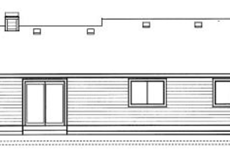Traditional Exterior - Rear Elevation Plan #91-106 - Houseplans.com