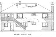 Traditional Style House Plan - 3 Beds 2 Baths 1521 Sq/Ft Plan #47-244 Exterior - Rear Elevation