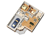 Traditional Style House Plan - 2 Beds 1 Baths 910 Sq/Ft Plan #25-4442 Floor Plan - Main Floor Plan