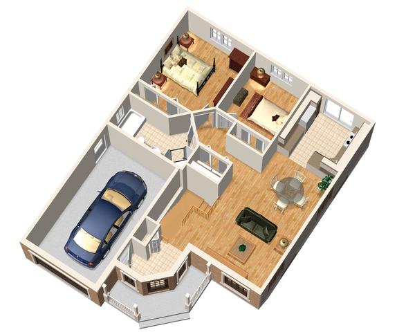 Traditional Floor Plan - Main Floor Plan Plan #25-4442
