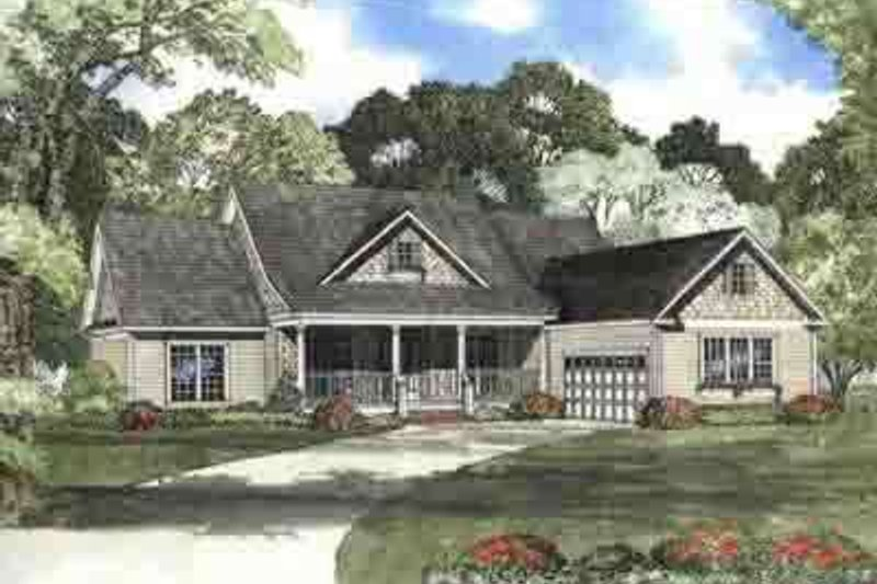 Southern Style House Plan - 4 Beds 2.5 Baths 2354 Sq/Ft Plan #17-625 Exterior - Front Elevation