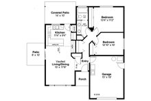 Ranch Floor Plan - Main Floor Plan Plan #124-1140
