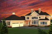 Colonial Style House Plan - 4 Beds 3.5 Baths 3622 Sq/Ft Plan #70-1144 Exterior - Rear Elevation