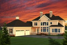 Colonial Exterior - Rear Elevation Plan #70-1144
