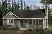 Cottage Style House Plan - 2 Beds 1 Baths 1020 Sq/Ft Plan #22-118 Exterior - Front Elevation