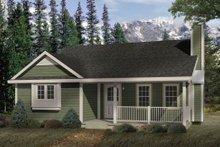 Cottage Exterior - Front Elevation Plan #22-118