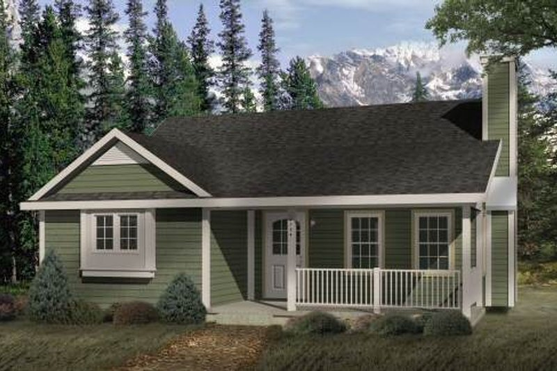 Cottage Style House Plan - 2 Beds 1 Baths 1020 Sq/Ft Plan #22-118