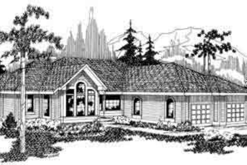Exterior - Front Elevation Plan #124-101 - Houseplans.com