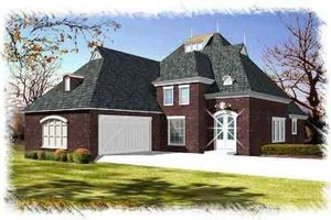 Dream House Plan - European Exterior - Front Elevation Plan #15-285