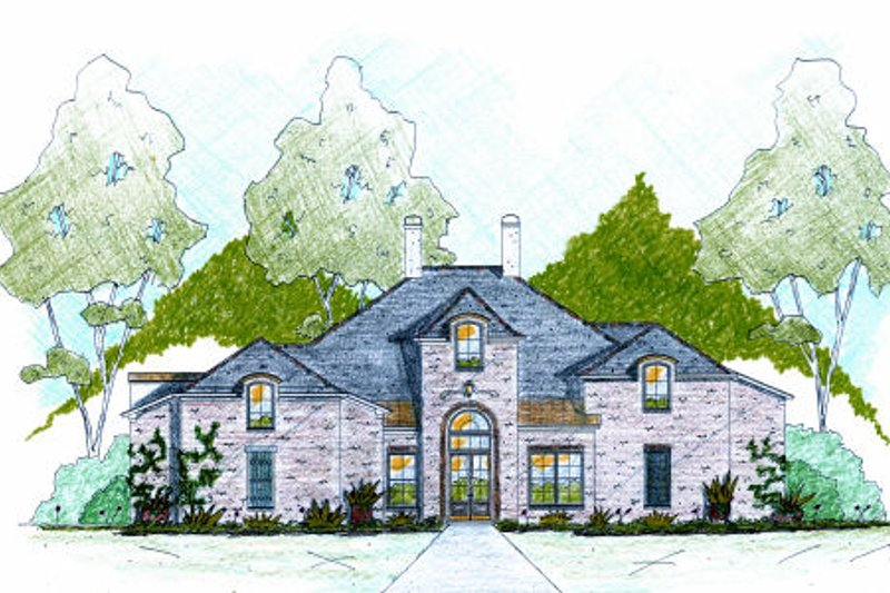 Dream House Plan - Traditional Exterior - Front Elevation Plan #36-488