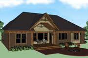 Craftsman Style House Plan - 4 Beds 3 Baths 2202 Sq/Ft Plan #51-511 Exterior - Rear Elevation
