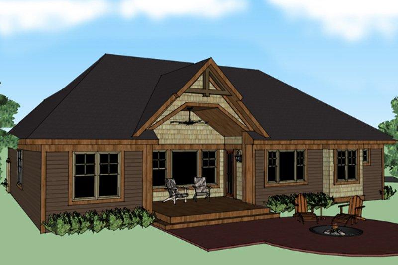 Craftsman Exterior - Rear Elevation Plan #51-511 - Houseplans.com