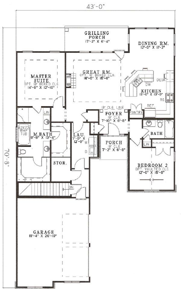 European Floor Plan - Other Floor Plan Plan #17-1142