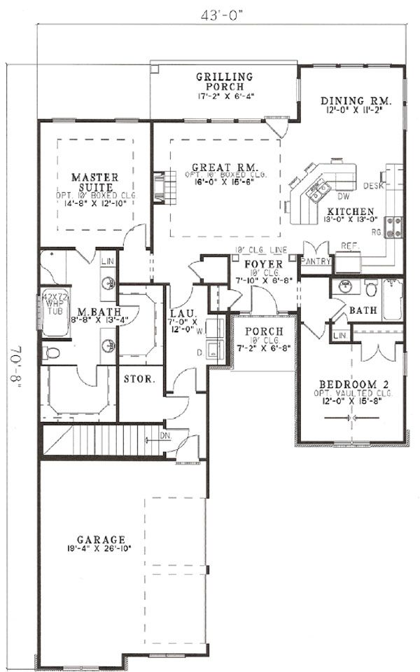 Home Plan - European Floor Plan - Other Floor Plan #17-1142