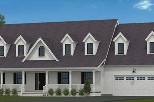 Country Exterior - Front Elevation Plan #72-1052