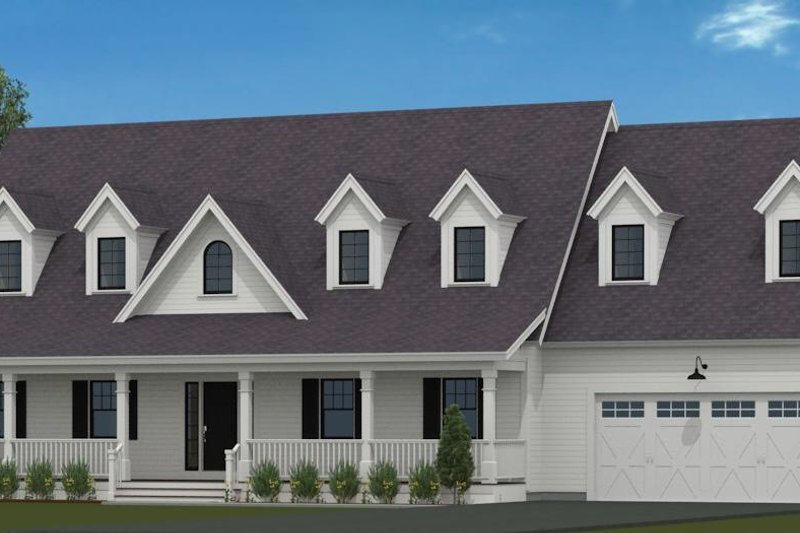 House Blueprint - Country Exterior - Front Elevation Plan #72-1052