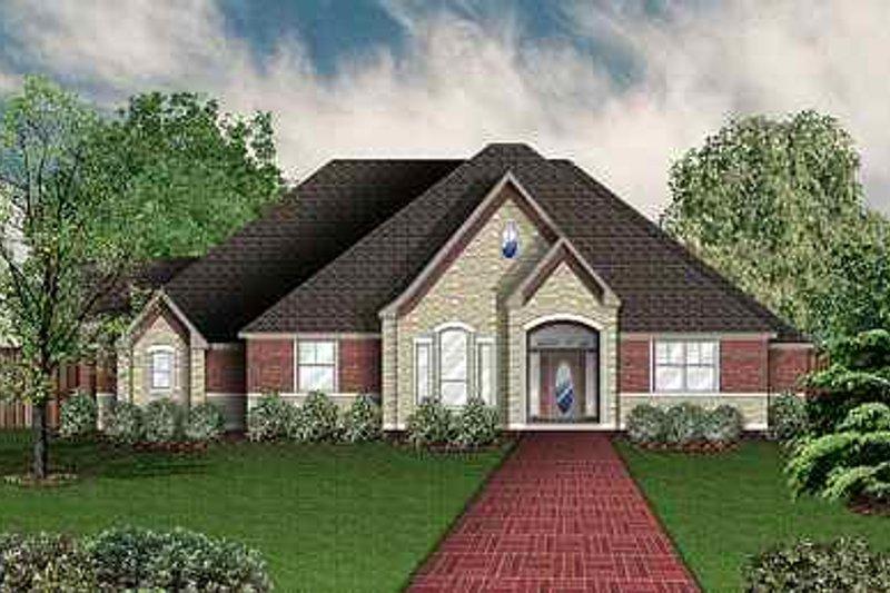 Dream House Plan - European Exterior - Front Elevation Plan #84-151