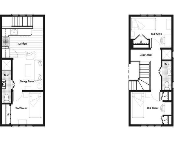 Craftsman Floor Plan - Upper Floor Plan Plan #492-5