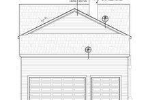 Contemporary Exterior - Rear Elevation Plan #20-2205