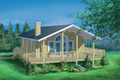 Beach Style House Plan - 2 Beds 1 Baths 888 Sq/Ft Plan #25-1107 Exterior - Front Elevation