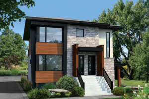 Contemporary Exterior - Front Elevation Plan #25-4555