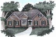 Traditional Style House Plan - 3 Beds 2.5 Baths 2067 Sq/Ft Plan #129-126 Exterior - Front Elevation