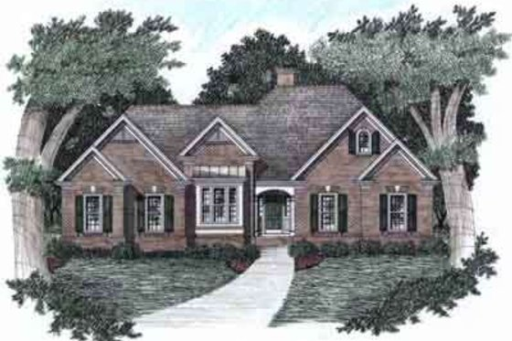 Traditional Exterior - Front Elevation Plan #129-126