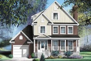 European Exterior - Front Elevation Plan #25-4163