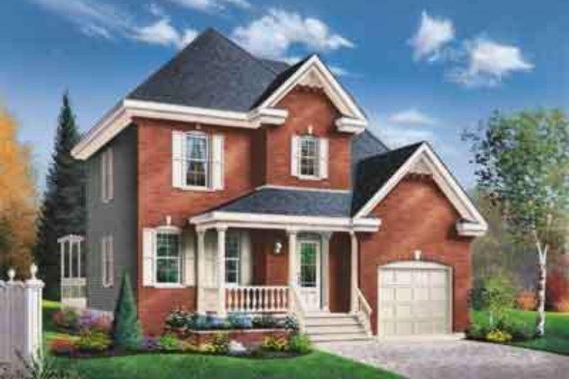 European Style House Plan - 3 Beds 2 Baths 1628 Sq/Ft Plan #23-479