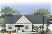 Traditional Style House Plan - 3 Beds 2 Baths 1568 Sq/Ft Plan #929-880 Exterior - Rear Elevation