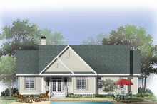 House Plan Design - Traditional Exterior - Rear Elevation Plan #929-880