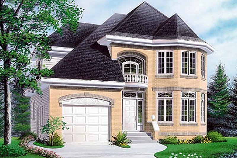 European Exterior - Front Elevation Plan #23-2081