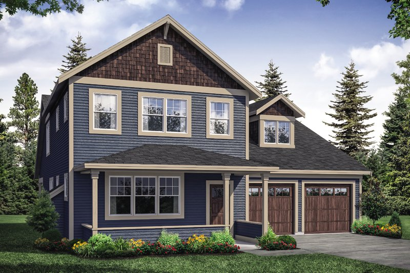 House Plan Design - Traditional Exterior - Front Elevation Plan #124-1121