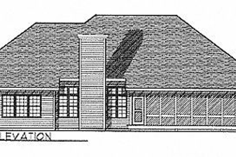 Traditional Exterior - Rear Elevation Plan #70-328 - Houseplans.com
