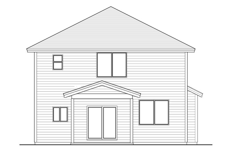 Home Plan - Craftsman Exterior - Rear Elevation Plan #53-642