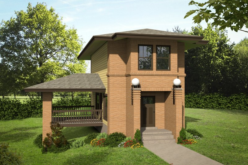 House Plan Design - Contemporary Exterior - Front Elevation Plan #932-134
