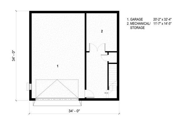 Modern Floor Plan - Lower Floor Plan #497-26