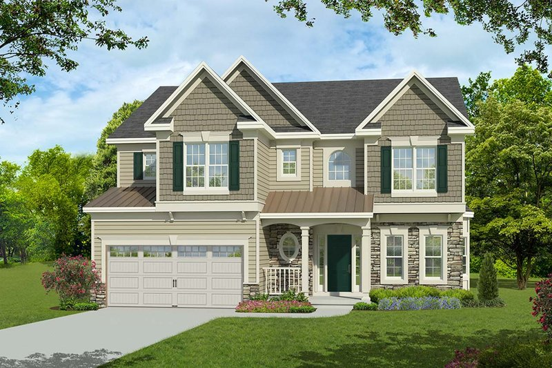 Traditional Style House Plan - 4 Beds 3.5 Baths 2562 Sq/Ft Plan #1010-232