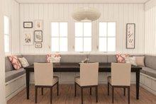 modern craftsman dining room rendering