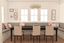 Architectural House Design - modern craftsman dining room rendering